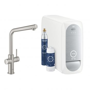 Grohe 31454DC1 Starter-Kit Blue Home Minta L-Auslauf Supersteel