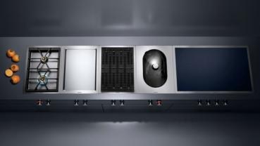 gaggenau vi482111 vario flex induktionskochfeld serie 400 edelstahlrahmen breite 80 cm. Black Bedroom Furniture Sets. Home Design Ideas