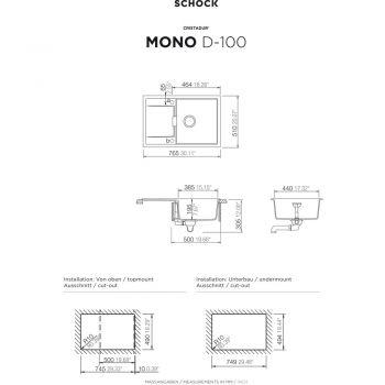 schock sp le unterbau mond100ubro hai end. Black Bedroom Furniture Sets. Home Design Ideas
