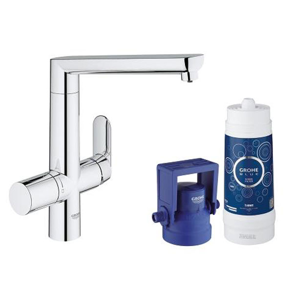 grohe starter kit blue pure k 7 stilles wasser chrom hai end. Black Bedroom Furniture Sets. Home Design Ideas