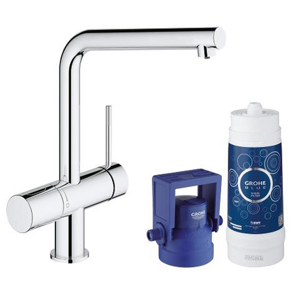 grohe starter kit blue pure minta stilles wasser chrom hai end. Black Bedroom Furniture Sets. Home Design Ideas