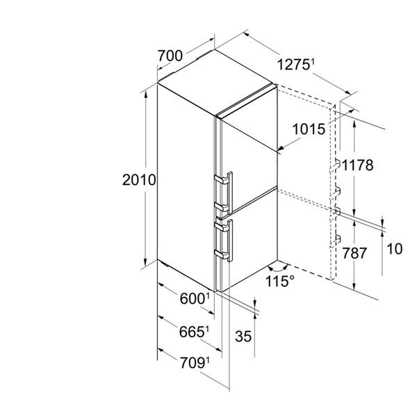 liebherr cbnpes 5758 20 k hl gefrier kombination hai end. Black Bedroom Furniture Sets. Home Design Ideas
