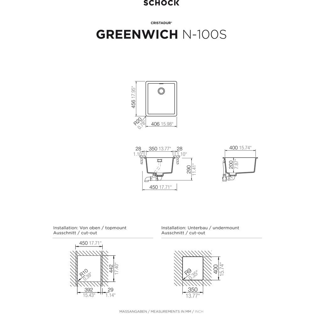 schock sp le unterbau gren100supur hai end. Black Bedroom Furniture Sets. Home Design Ideas