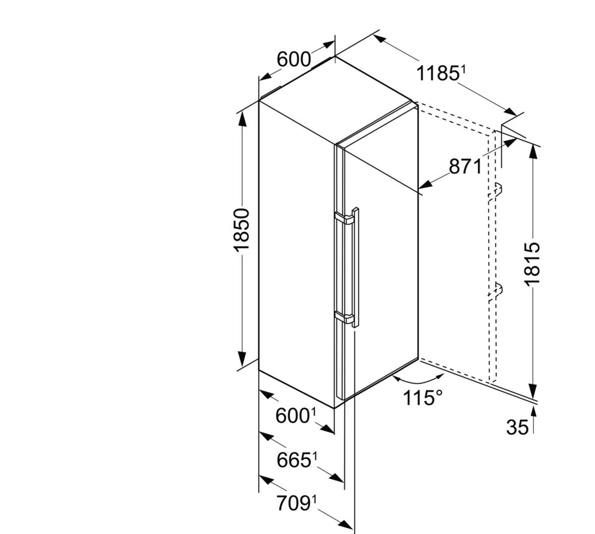 liebherr kbbs 4350 20 premium stand k hlschrank mit. Black Bedroom Furniture Sets. Home Design Ideas