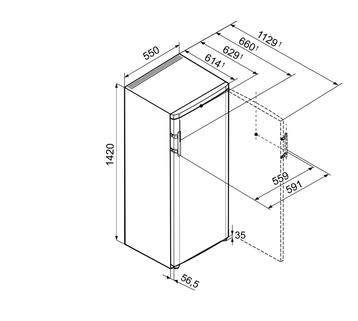 liebherr k 2814 20 comfort stand k hlschrank hai end. Black Bedroom Furniture Sets. Home Design Ideas