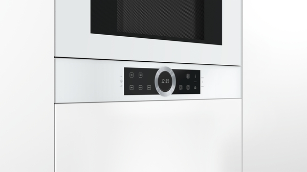 bosch bfl634gw1 polar wei einbau mikrowelle hai end. Black Bedroom Furniture Sets. Home Design Ideas