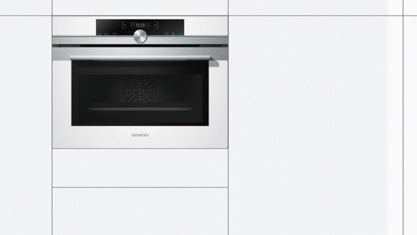 siemens kompaktbackofen mit mikrowelle cm633gbw1 wei. Black Bedroom Furniture Sets. Home Design Ideas