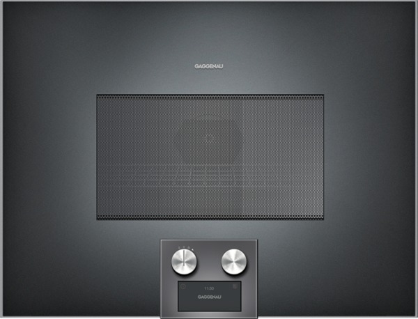 gaggenau bm454100 mikrowellen backofen serie 400 vollglast r in gaggenau anthrazit breite. Black Bedroom Furniture Sets. Home Design Ideas