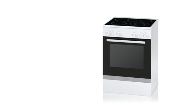 bosch hca722220 polar wei elektro standherd 60cm elektro standherd 60 cm breit mit. Black Bedroom Furniture Sets. Home Design Ideas