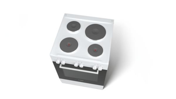 bosch hsa720120 polar wei elektro standherd 60 cm mit email mulde hai end. Black Bedroom Furniture Sets. Home Design Ideas