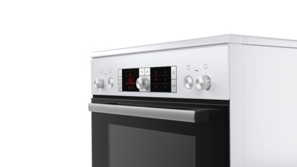 bosch hca754820 polar wei elektro standherd 60 cm breit mit glaskeramik kochfeld hai end. Black Bedroom Furniture Sets. Home Design Ideas