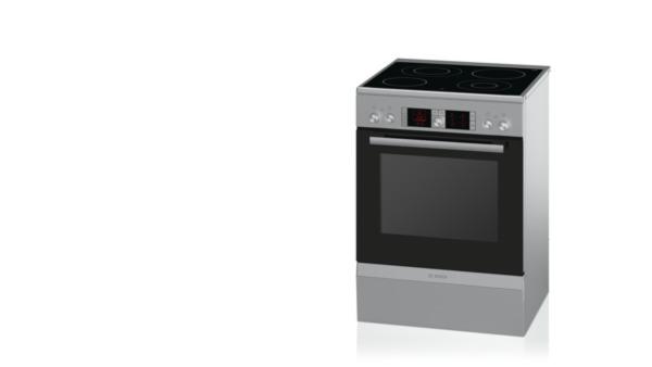 Bosch HCA854450 Edelstahl   Elektro Standherd, 60 Cm Breit Mit  Glaskeramik Kochfeld