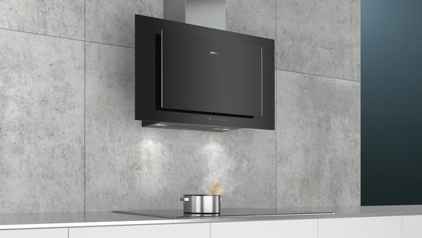 siemens lc97flv60 schwarz schwarz mit glasschirm wand esse 90 cm hai end. Black Bedroom Furniture Sets. Home Design Ideas