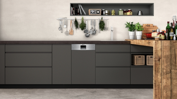 neff gk 6601 tn s486t60s1e slimline geschirrsp ler 45 cm integrierbar edelstahl hai end. Black Bedroom Furniture Sets. Home Design Ideas
