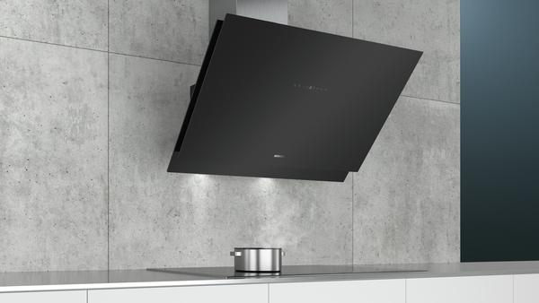 siemens lc98kmp60 schwarz schwarz mit glasschirm wand esse 90 cm hai end. Black Bedroom Furniture Sets. Home Design Ideas