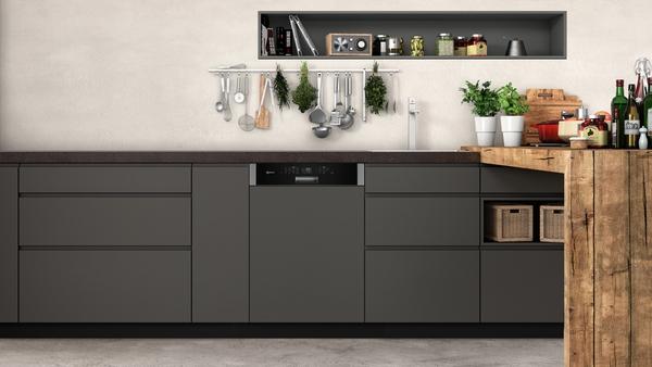 neff gh 5801 mn s425m80s1e gh 5801 mn geschirrsp ler 60 cm integrierbar edelstahl. Black Bedroom Furniture Sets. Home Design Ideas