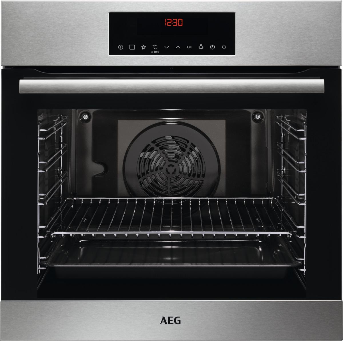 Aeg bek63102zm einbauherd backofen stainless steel for Aeg einbauherd