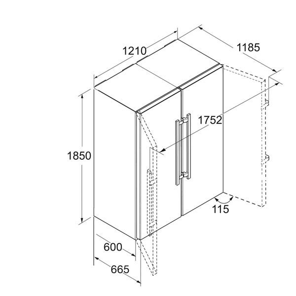 liebherr sbsbs 8673 20 side by side edelstahl hai end. Black Bedroom Furniture Sets. Home Design Ideas