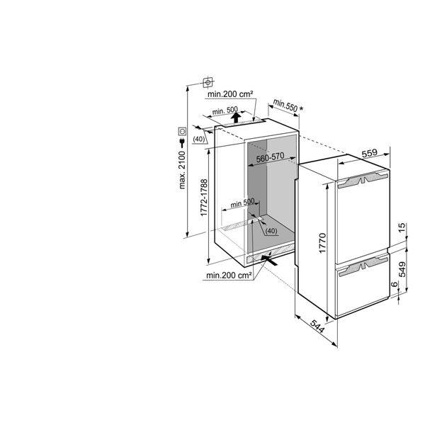 liebherr icbp 3266 20 einbauk hlgefrierkombination hai end. Black Bedroom Furniture Sets. Home Design Ideas