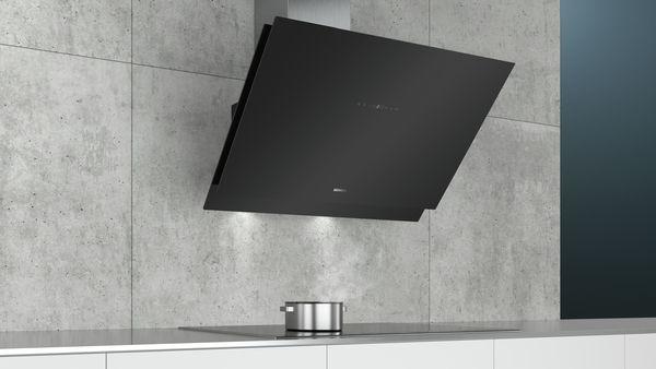 siemens lc98kmr60 schwarz schwarz mit glasschirm wand esse 90 cm hai end. Black Bedroom Furniture Sets. Home Design Ideas