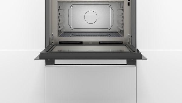 bosch einbau mikrowelle mit dampfgarfunktion coa565gs0 edelstahl hai end. Black Bedroom Furniture Sets. Home Design Ideas