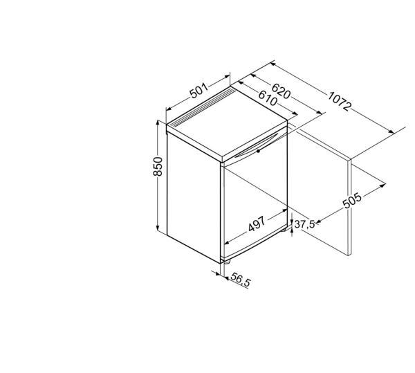 liebherr t 1404 20 tisch k hlschrank hai end. Black Bedroom Furniture Sets. Home Design Ideas
